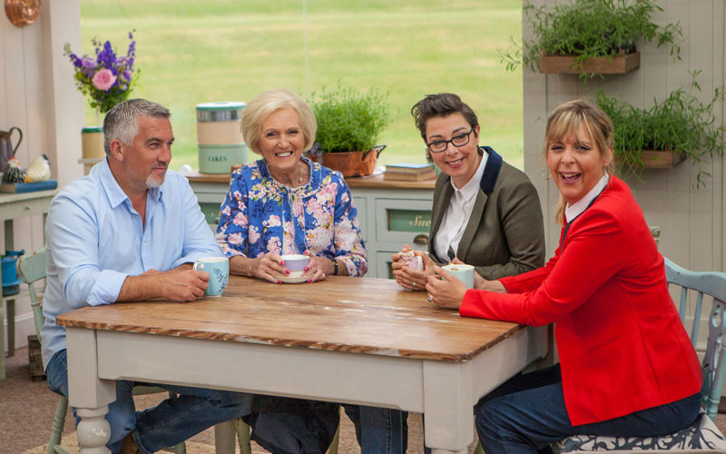 Great British Bake-Off, Paul Hollywood, Mary Berry, Sue Perkins, Mel Giedroyc