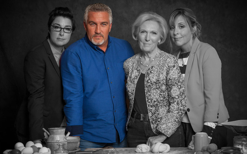 The Great British Bake-Off, Paul Hollywood, Mary Berry, Sue Perkins, Mel Giedroyc