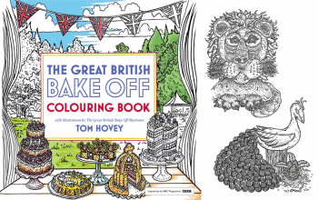 The Great British Baking Show's illustrations will be in a coloring book