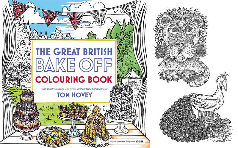 Great British Bake-Off Colouring Book