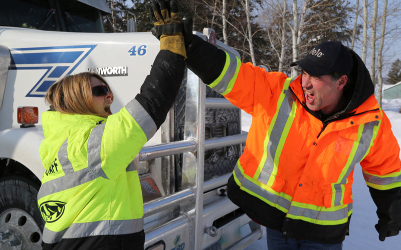 Ice Road Truckers, Lisa Kelly, Darrell Ward