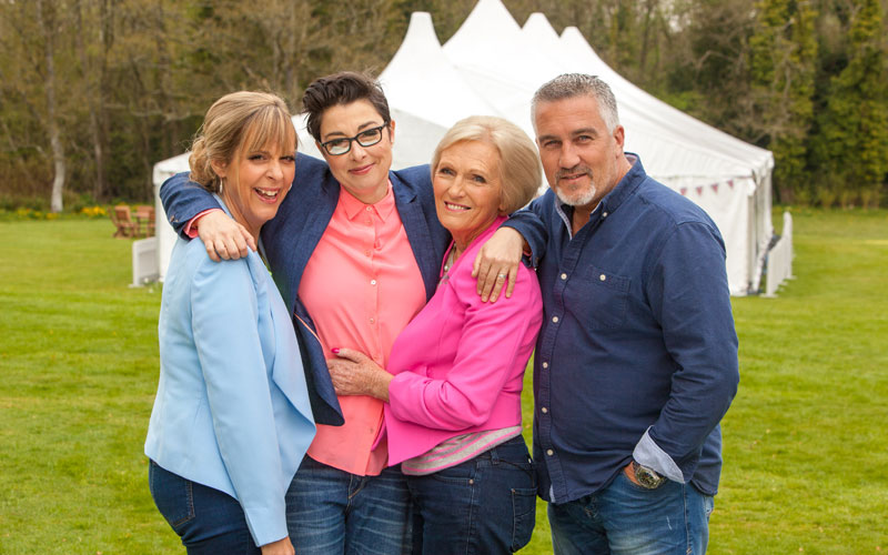 Mel Giedroyc, Sue Perkins, Mary Berry, Paul Hollywood, GBBO