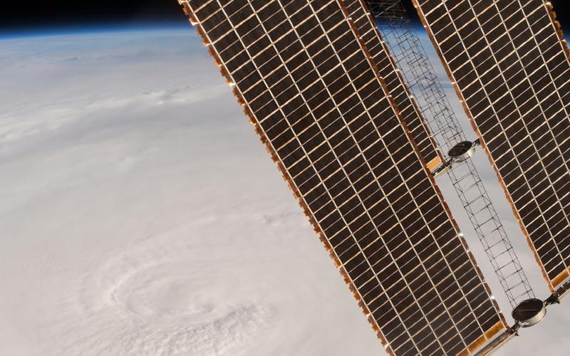 Hurricane Matthew over Haiti from ISS