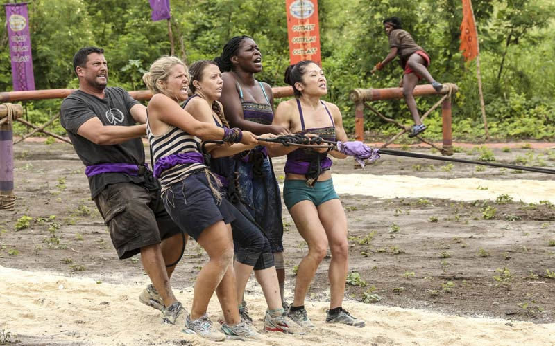 Survivor Gen X tribe, immunity challenge, Bret LaBelle, Sunday Burquest, Jessica Lewis, Ciandre Taylor, Lucy Huang