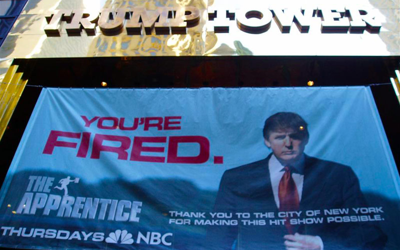 Trump Tower, The Apprentice, You're Fired banner, Donald Trump