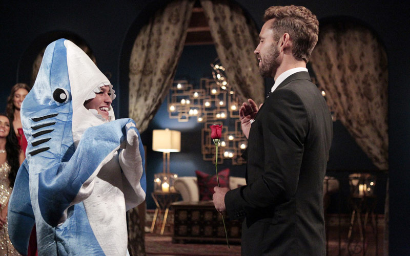 Bachelor, Alexis, Nick Viall, shark costume, dolphin trainer