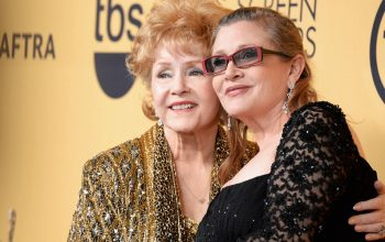 Debbie Reynolds, Carrie Fisher, SAG Awards 2015