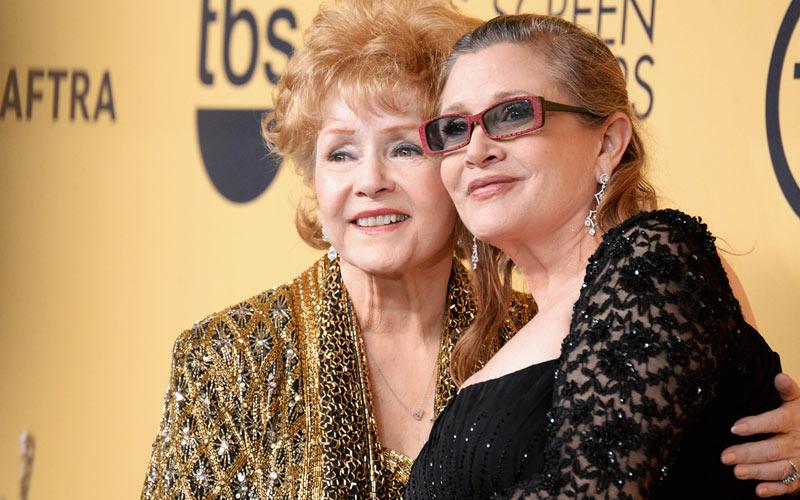 Debbie Reynolds, Carrie Fisher, SAG Awards 2015