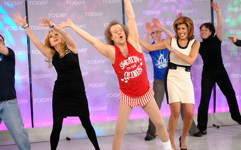 Image result for richard simmons exercising