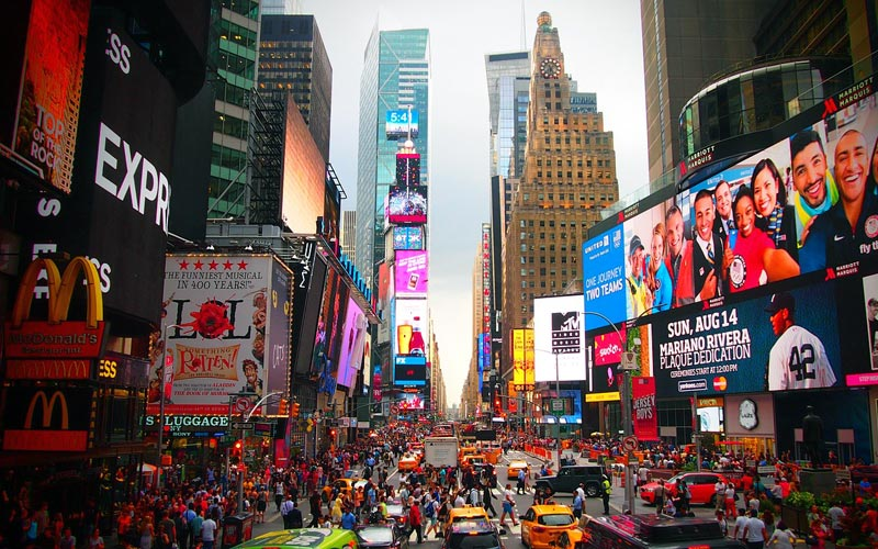 Times Square, New York City, advertisements
