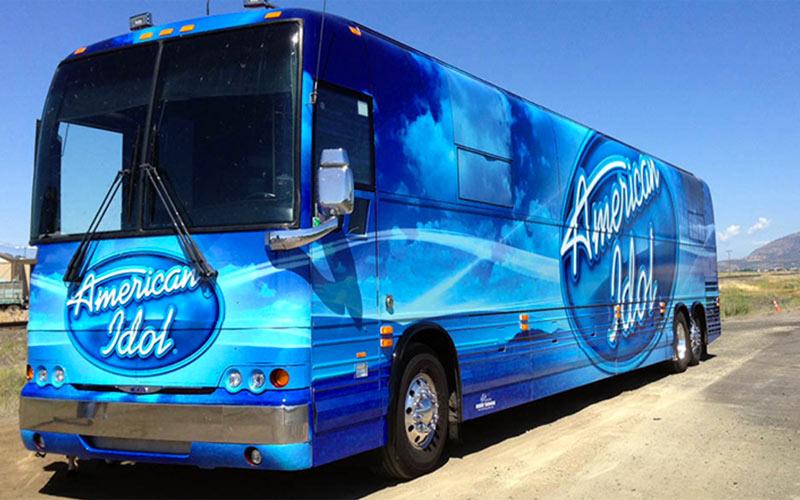 American Idol casting bus