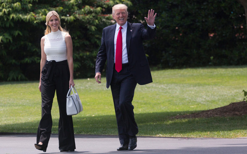 Donald Trump, Ivanka Trump, White House South Lawn