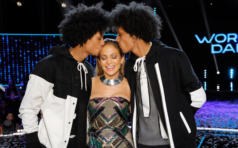Les Twins, Laurent and Larry Nicolas Bourgeois, Jennifer Lopez, World of Dance