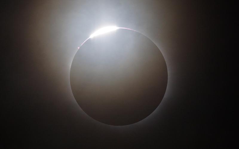 Solar eclipse 2006, diamond ring