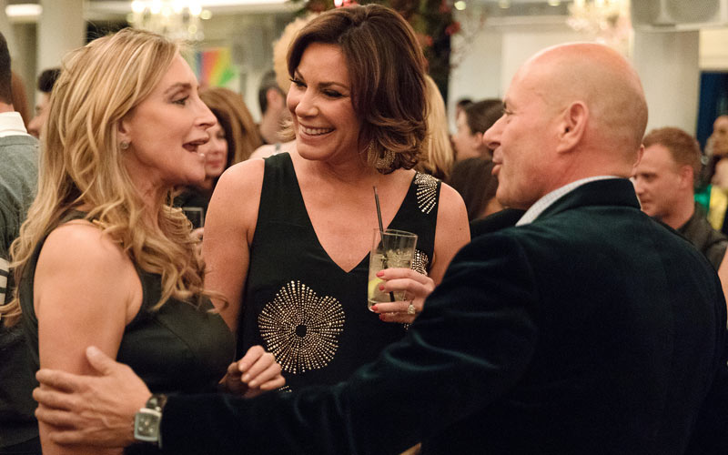 Sonja Morgan, Luann D'Agostino, Tom D'Agostino, Real Housewives of New York City