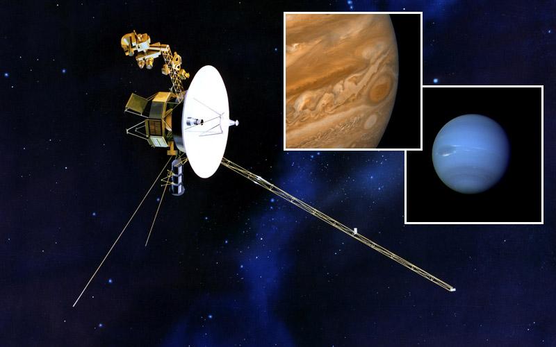 Voyager, Jupiter red spot, Neptune