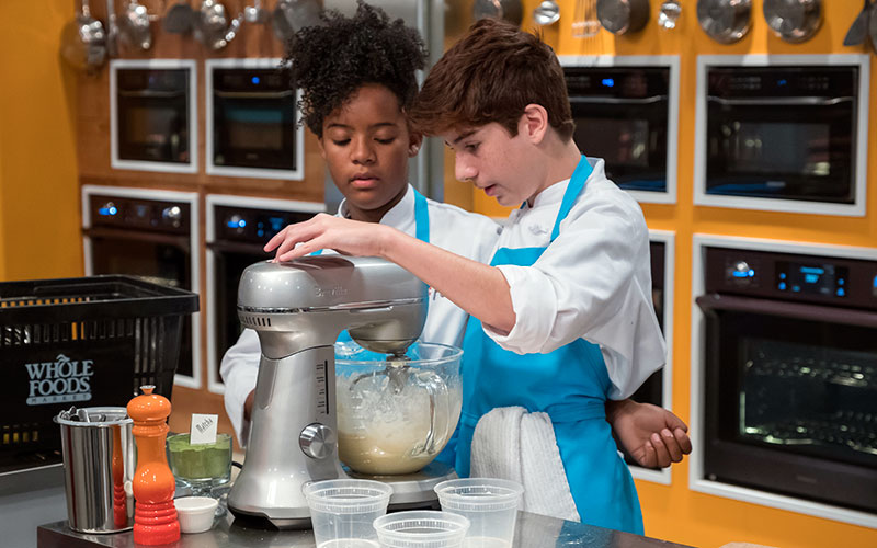 Top Chef Junior contestants Rahanna Martinez and Owen Pereira