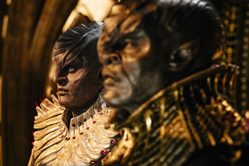 Star Trek: Discovery, Klingons, Mary Chieffo as L'Rell; Chris Obi as T'Kuvma