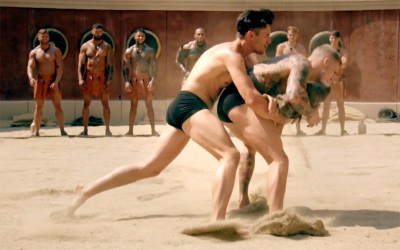 Bromans, ITV2, wrestling in sand