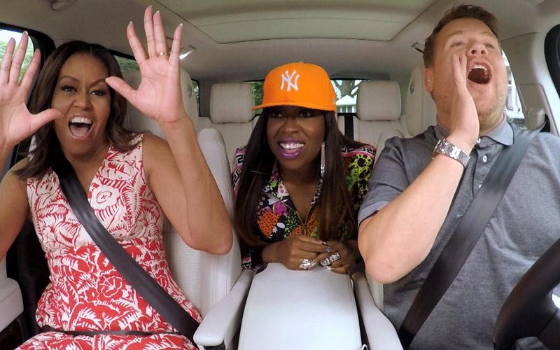 Michelle Obama, Missy Elliott, James Corden, Carpool Karaoke