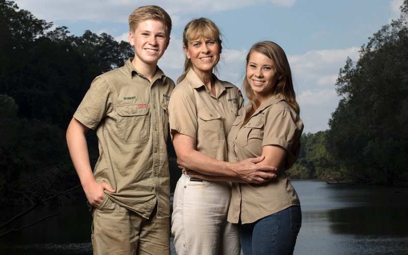 Robert Irwin, Terri Irwin, Bindi Irwin, Animal Planet