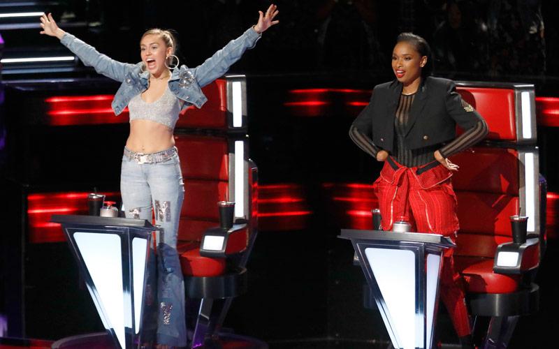 Miley Cyrus, Jennifer Hudson, The Voice season 13