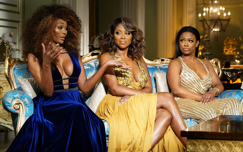 Cynthia Bailey, Kenya Moore, Candi Burruss, Real Housewives of Atlanta, season 9 reunion