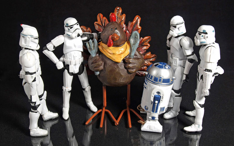 Storm Troopers, turkey, R2-D2