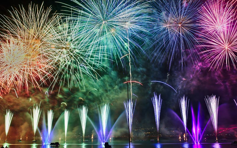 fireworks, Annecy, France