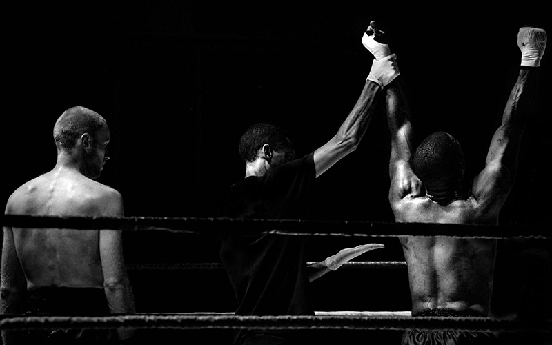 boxing ring stock photo, The Contender