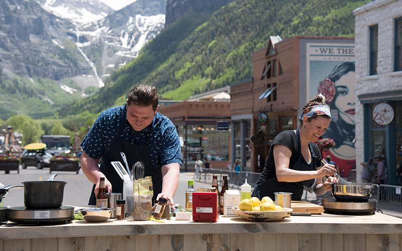Top Chef Colorado, Telluride, Cooking High, Joseph Flamm, Carrie Baird