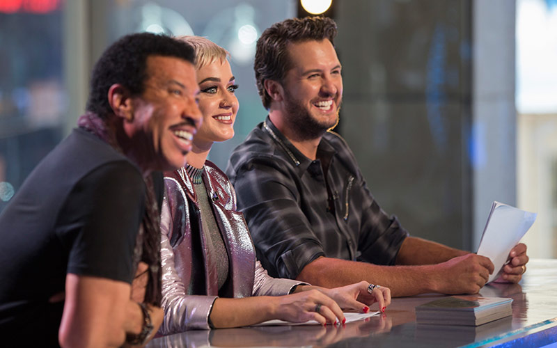 Lionel Richie, Katy Perry, Luke Bryan, American Idol