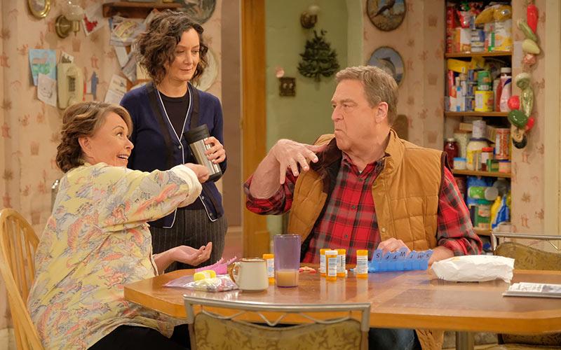 Roseanne Barr, Sara Gilbert, John Goodman