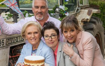 Great British Baking Show, Mary Berry, Paul Hollywood, Sue Perkins, Mel Giedroyc