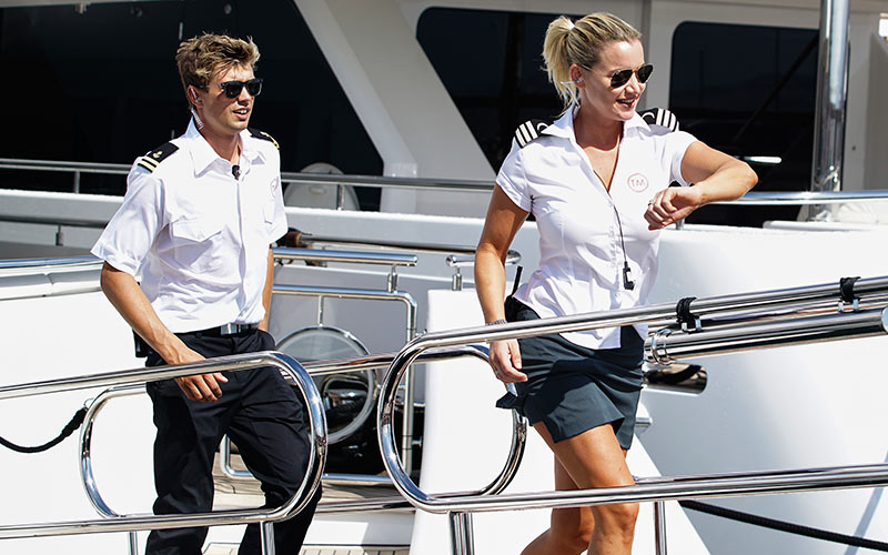 Below Deck Mediterranean, Conrad Empson, Hannah Ferrier on