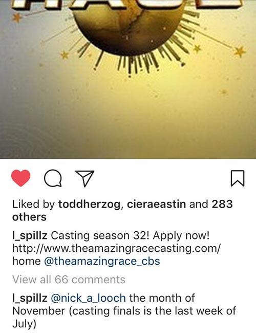 Amazing Race season 31, TAR 31 casting, Instagram, Lynne Spillman