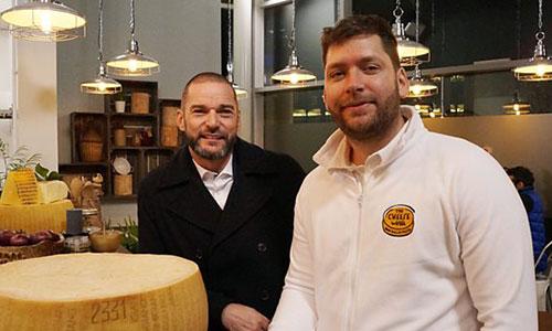 Million Pound Menu, host Fred Sirieix, The Cheese Wheel's Graham Bradbury