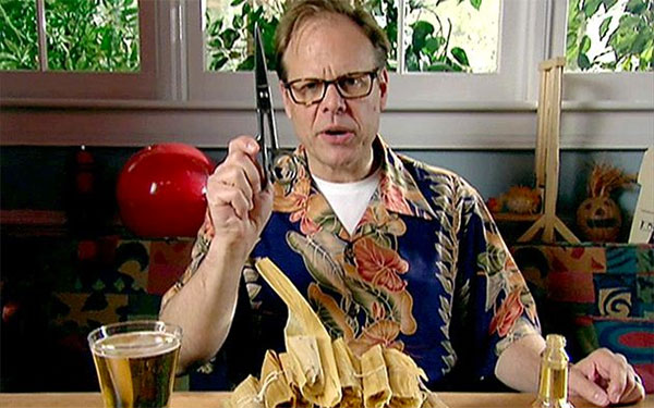 Alton Brown, Good Eats, tamale