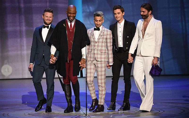 Queer Eye, Fab Five present at the Emmys