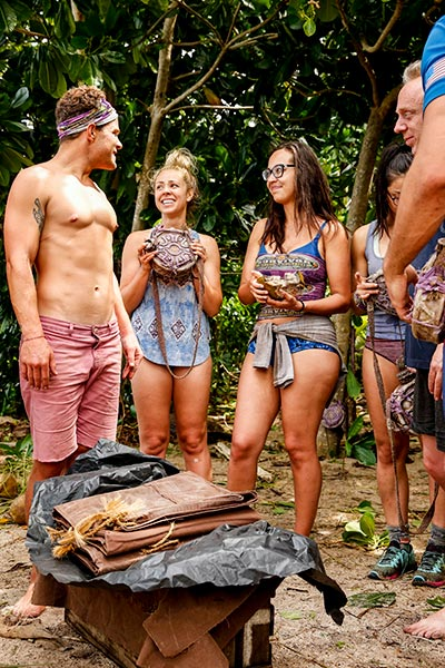 Alec Merlino, Kara Kay, Angelina Keeley, Survivor David vs. Goliath