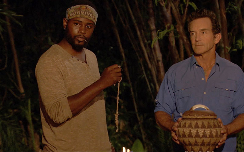 Davie Rickenbacker, Jeff Probst, Survivor David vs. Goliath episode 8 Tribal Council