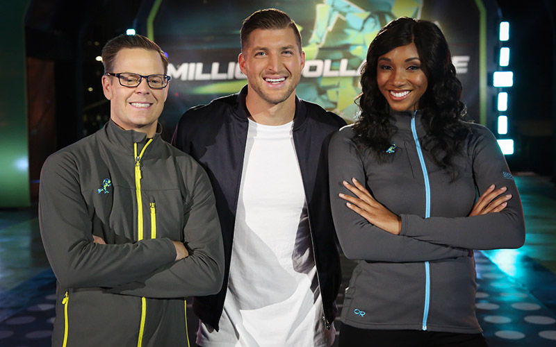 Million Dollar Mile, Tim Tebow, Maria Taylor, Matt Money Smith