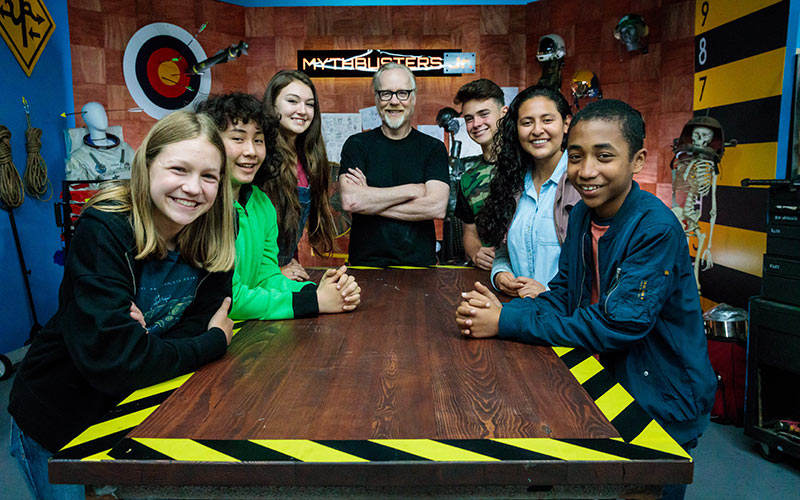 Mythbuster Jr. cast, Science Channel, Adam Savage