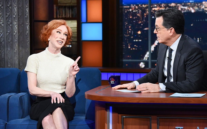 Kathy Griffin, The Late Show with Stephen Colbert