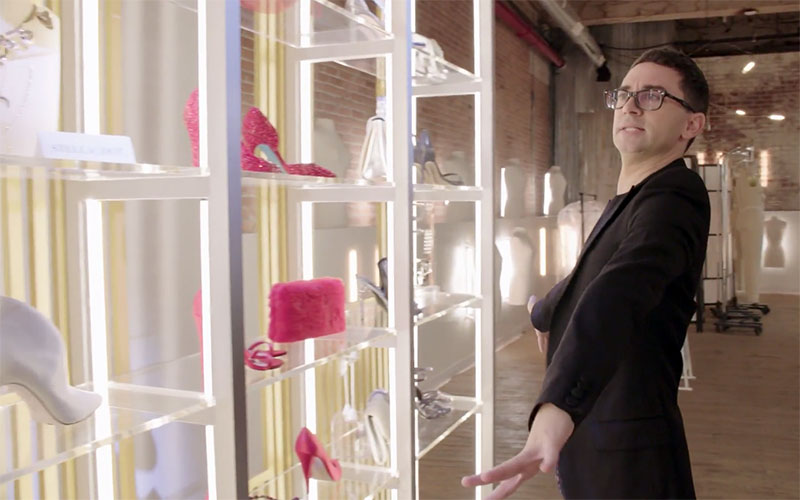 Christian Siriano, Project Runway 17 accessories wall