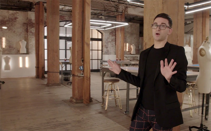 Christian Siriano, Project Runway 17 workroom
