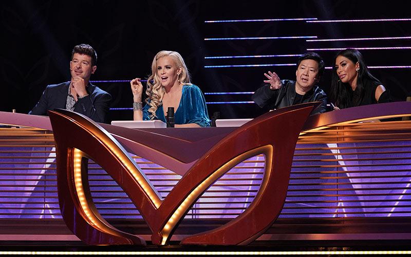 The Masked Singer judges, episode 2, Robin Thicke, Jenny McCarthy, Ken Jeong, Nicole Scherzinger