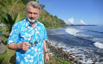 An interview with Sam Neill about his reality series The Pacific: In the Wake of Captain Cook