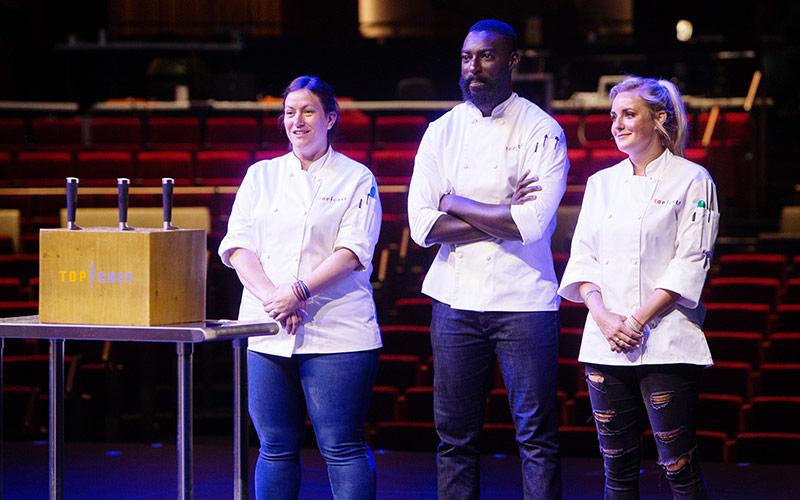 Sara Bradley, Eric Adjepong, Kelsey Barnard, Top Chef Kentucky finale
