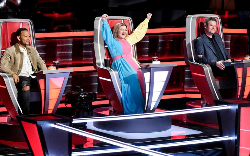John Legend, Kelly Clarkson, Blake Shelton, The Voice season 16